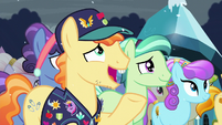 Pin Pony --And when that foal is held before the Crystal Heart-- S6E2