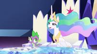 "Princess Celestia teasing ""sounds familiar"" S7E1"