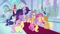 Princess Twilight and her friends laughing S9E26