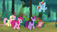 "Rainbow Dash ""learning pretending to be fun"" S8E13"