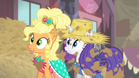 Rarity and Applejack surprised S4E13