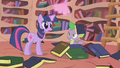 Spike book hat S1E10.png