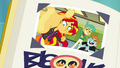 "Sunset Shimmer's ""Best Meanie"" yearbook photo EGFF.png"