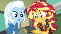 Sunset and Trixie listening to Invisible EGFF