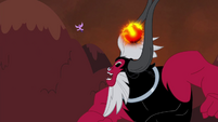 Tirek throws Twilight towards the mountain S4E26