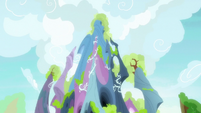 Top of the new changeling kingdom castle S7E17