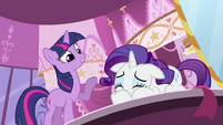 Twilight Sparkle asking Rarity what happened S2E03