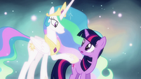 Twilight and Celestia -taught you well- S03E13