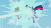 Twilight and Spike get blasted with magic S5E25