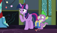 Twilight and Spike in shock S6E8