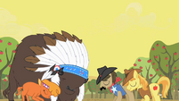 Buffalos and ponies agree to peace S1E21