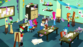 Canterlot High students in the school art room SS10.png