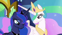 Celestia and Luna look disappointed S9E13