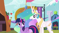 Celestia says she's impressed by Twilight S5E11