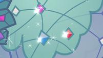 Close-up of Princess Dress gemstones S5E14