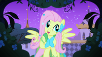 Fluttershy listens to the bird calling S1E26
