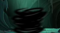 Large swirl of black smoke S9E1