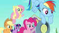 Main ponies scared of Peachbottom S03E12.png