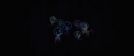 Mane Six in a dark underwater alcove MLPTM