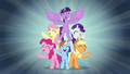 """Mane Six sing """"when we're with our team"""" S7E2.png"""