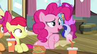 "Pinkie Pie ""what's going on out there"" S4E15"