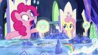 Pinkie Pie -when she faced that nasty sphinx!- S7E25