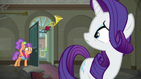 Plaid Stripes waving to Rarity S6E9