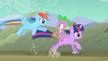 Rainbow Dash flying after Twilight and Spike S01E19.png