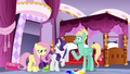 Rarity slaps fabric out of Zephyr's hoof S6E11.png