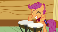 Scootaloo banging on drum S03E04