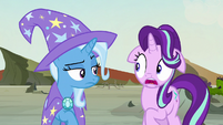 Starlight Glimmer looking aghast at Trixie S7E17