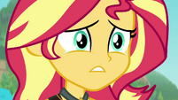 Sunset Shimmer starting to get teary-eyed EGFF