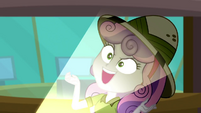 "Sweetie Belle spookily says ""mortal peril!"" SS11"