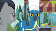Thunderlane giving a spoon to Rumble S7E21