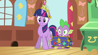 Twilight & Spike the cue S3E13