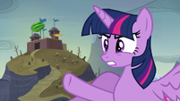 Twilight --you planted ponies in that cake-!-- S5E23