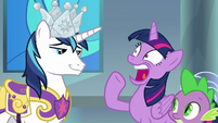 Twilight Sparkle gasping with shock S9E4