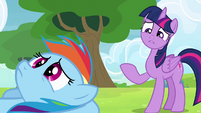 Twilight considering Rainbow's friends S4E10