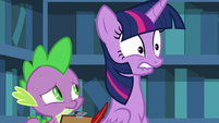 Twilight nervously biting her lower lip S8E7