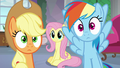 AJ and Rainbow shocked by Fluttershy's suggestion S8E9.png