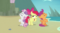 Apple Bloom caught between her friends' fight S8E6