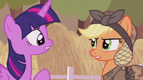 "Applejack ""bump your head on a crate of cider"" S5E25"