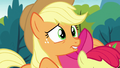 Applejack nervously bites her lower lip S7E13.png