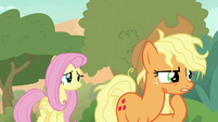 Applejack thinks of a way up the peaks S8E23