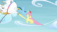 Bulk and Fluttershy gets flung away S4E10
