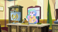 Celestia hears a commotion at the door EGDS37