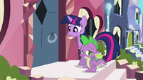 Crystal pony shuts door on Twilight and Spike S3E1