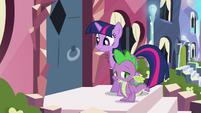 Crystal pony shuts door on Twilight and Spike S3E1