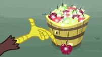 Discord using his magic on bucket apples S9E23