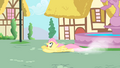Fluttershy attempting to catch Philomena S1E22.png